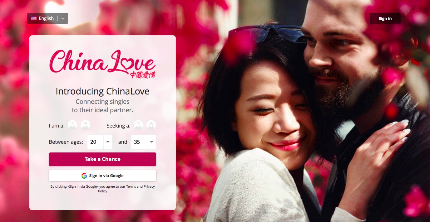 ChinaLove main page