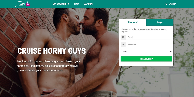 Gays.com main page